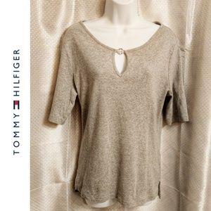Tommy Hilfiger Gray T-Shirt Size L